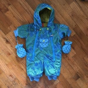 Hanna Andersson Infant Winter Snow Suit 50  0-3 M